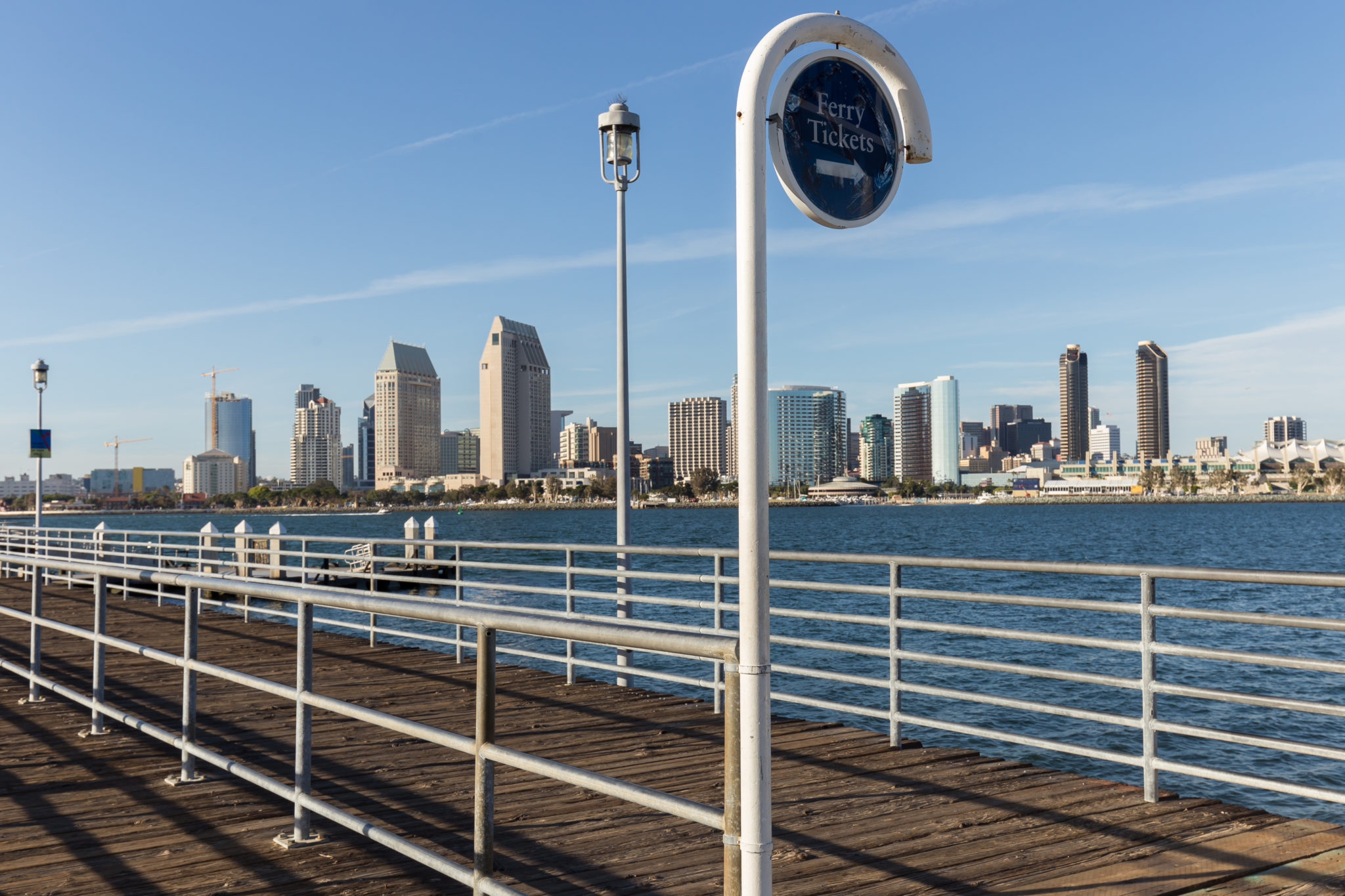 Photo of Coronado downtown in San Diego. Bridge to access the boat to go to Seaport Village