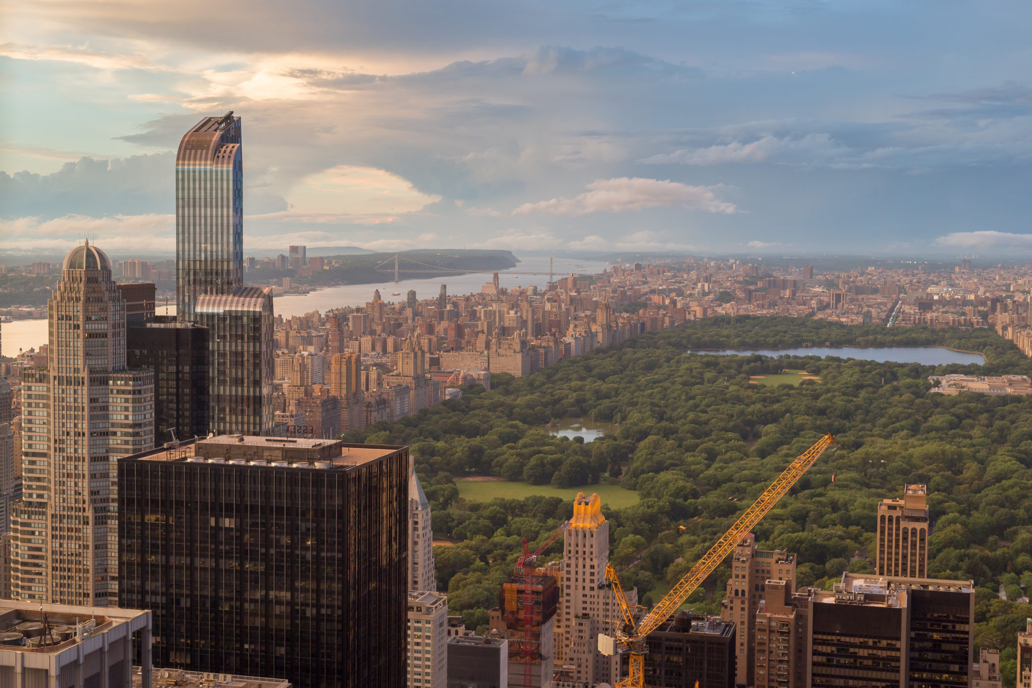 View of New York city & Central Parc from the top of the Rockefeller