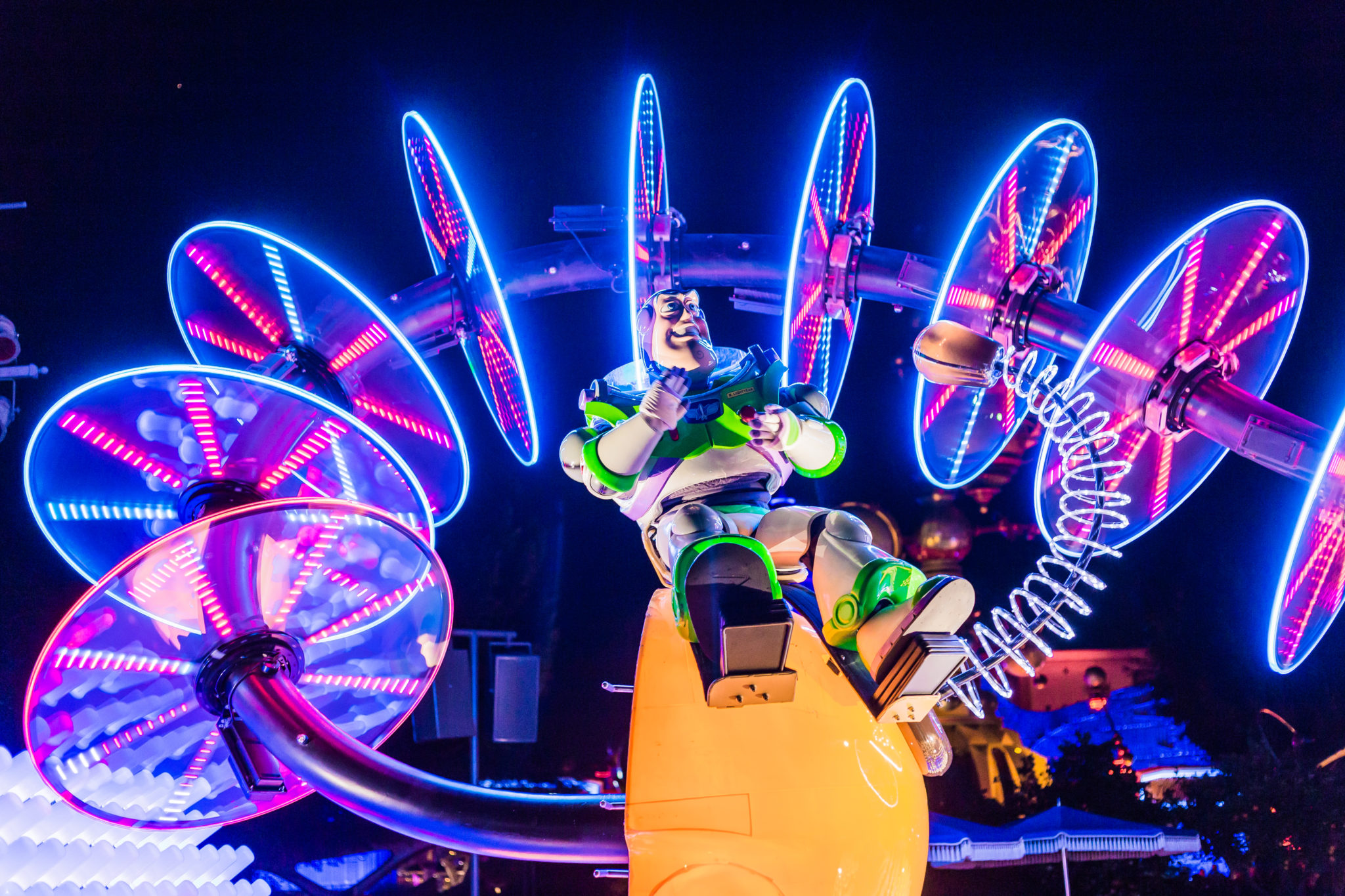 Photo of Buzz Lightyear during the Disneyland Night Parade in Los Angeles, Californie, USA